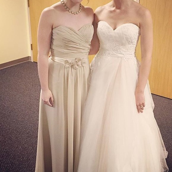 Wtoo Dresses Stunning Nude Floral Bridesmaid Gown Poshmark
